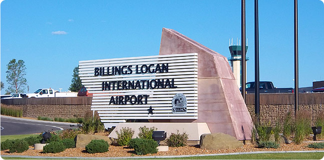 Billings Logan International Airport Sign